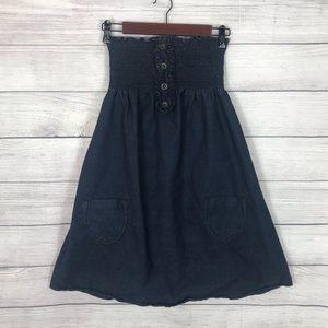 Mossimo Supply Co. Denim Strapless Dress